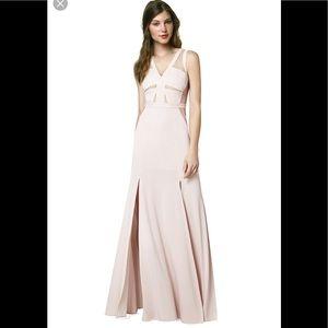 BCBG blush pink sleeveless maxi dress